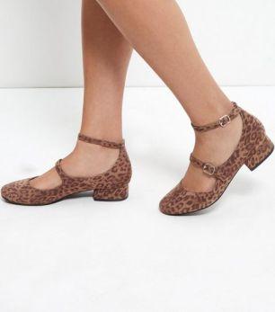 ballerines-à-talons-block,-double-bride-et-imprimé-léopard