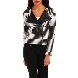 veste-noir-et-blanc-courte