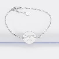 bracelet-chaine-maman-personnalise-medaille-gravee-argent-2-trous-15-mm